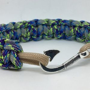 Jewelry - Paracord Slim Fish Hook Bracelet USA Made